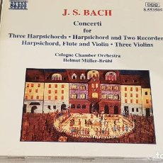 CDs de Música: J.S. BACH / COLOGNE CHAMBER ORCHESTRA / HELMUT MÜLLER-BRÜHL / CD-NAXOS / DE LUJO.. Lote 198343151
