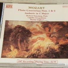 CDs de Música: MOZART / FLUTE CONCERTOS Nº 1 & 2 / MARTIN SIEGHART / CD-NAXOS / DE LUJO.. Lote 198343926