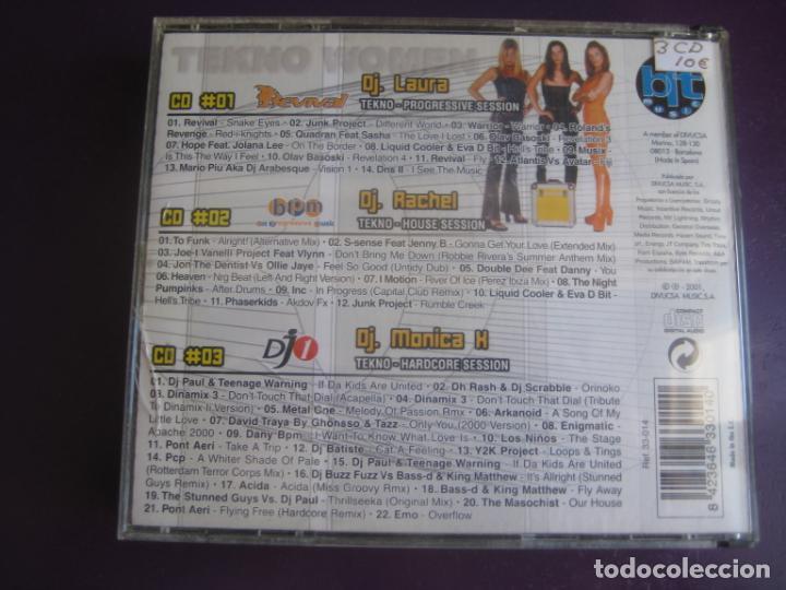 CDs de Música: Tekno Women TRIPLE CD BIT MUSIC 2001 - TRANCE PROGRESIVO - MAKINA - HARDCORE - HOUSE - Foto 2 - 198344123