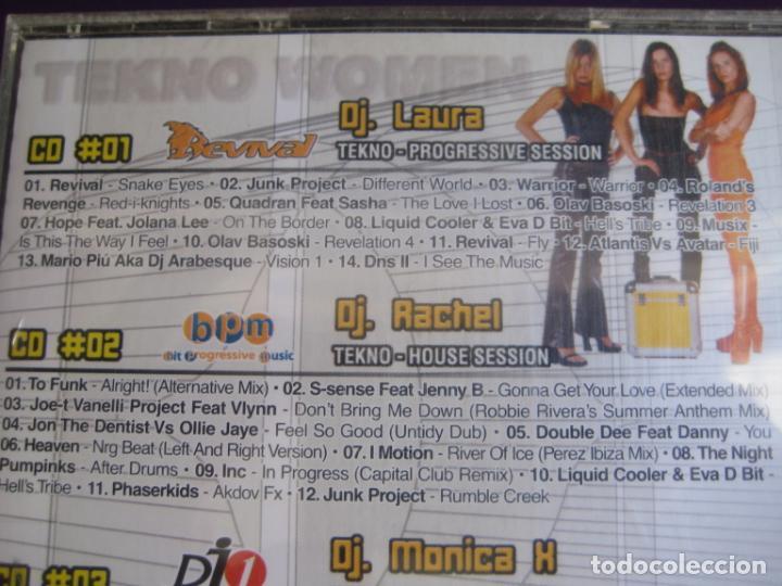 CDs de Música: Tekno Women TRIPLE CD BIT MUSIC 2001 - TRANCE PROGRESIVO - MAKINA - HARDCORE - HOUSE - Foto 3 - 198344123