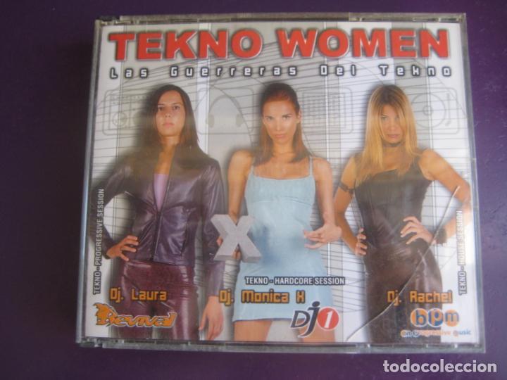 TEKNO WOMEN TRIPLE CD BIT MUSIC 2001 - TRANCE PROGRESIVO - MAKINA - HARDCORE - HOUSE (Música - CD's Techno)
