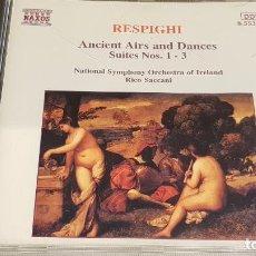 CDs de Música: RESPIGHI / ANCIENT AIRS AND DANCES / RICO SACCANI / CD-NAXOS / DE LUJO.. Lote 198344173