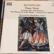 CDs de Música: RESPIGHI / PIANO MUSIC / KONSTANTIN SCHERBAKOV - PIANO / CD-NAXOS / DE LUJO.. Lote 198344391