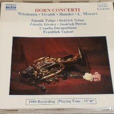 CDs de Música: HORN CONCERTI / VARIOS AUTORES / CAPELLA ISTROPOLITANA / FRANTISEK VAJNAR / CD - NAXOS / DE LUJO.. Lote 198397947