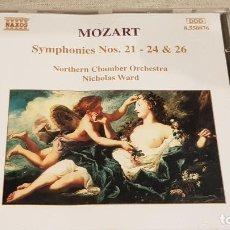 CDs de Música: MOZART / SYMPHONIES Nº 21, 24 & 26 / MORTHERN CHAMBER ORCHESTRA / NICHOLAS WARD / DE LUJO. Lote 198398402
