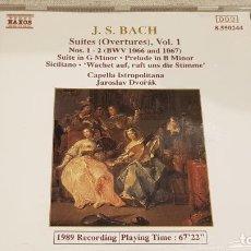 CDs de Música: J.S. BACH / SUITES (OVERTURES) VOL. 1 / CAPELLA ISTROPOLITANA / JAROSLAV DVORÁK / CD - NAXOS / LUJO.. Lote 198466775