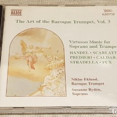 CDs de Música: THE ART OF THE BAROQUE TRUMPET, VOL. 3 / VARIOS AUTORES / CD - NAXOS / DE LUJO. Lote 198469596