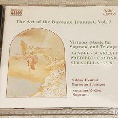 CDs de Música: THE ART OF THE BAROQUE TRUMPET, VOL. 3 / VARIOS AUTORES / CD - NAXOS / DE LUJO. Lote 198469596