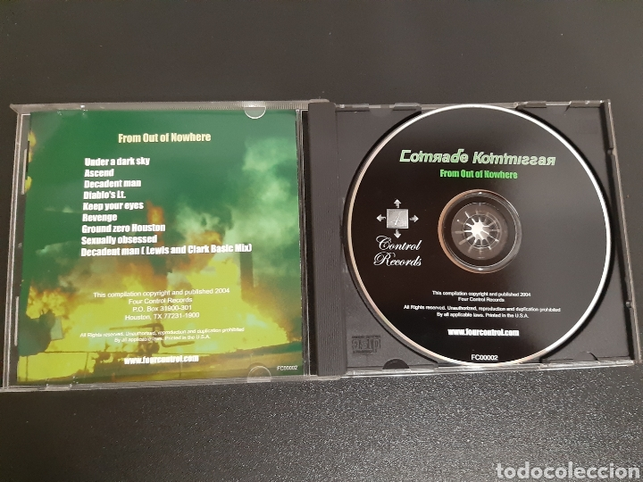 CDs de Música: COMRADE KOMMISSAR. FROM OUT OF NOWHERE. 2004 - Foto 2 - 198476618