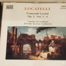 CDs de Música: LOCATELLI / CONCERTI GROSSI / OP.1 Nº 1 - 6 / JAROSLAV KRECEK / CD - NAXOS / DE LUJO. Lote 198546917