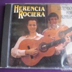 CDs de Música: HERENCIA ROCIERA CD MUXIVOZ 1994 - LATIENDO POR RUMBAS - SEVILLANAS - SEVILLA - SIN USO. Lote 198547497
