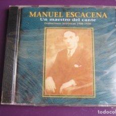 CDs de Música: MANUEL ESCACENA 1908 - 1928 UN MAESTRO DEL CANTE CD SONIFOLK 2000 - FLAMENCO PRECINTADO - 21 TEMAS. Lote 198550573