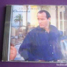 CDs de Música: JOSÉ MANUEL SOTO CD EPIC 1996 PRECINTADO - QUIEREME - NUEVA COPLA - CANCION ESPAÑOLA . Lote 198553312
