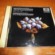 CDs de Música: OBOENKONZERTE GRAUN TELEMANN KREBS HEINZ HOLLIGER CAMERATA BERN CD ALBUM 1981 WEST GERMANY. Lote 198553442
