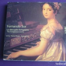 CDs de Música: FERNANDO SOR - LA OBRA PARA FORTEPIANO - JOSEP Mª ROGER CD CANTUS 1997 - CLASICA XIX CATALAN. Lote 198554037
