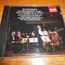 CDs de Música: SCHUBERT TROUT QUINTET LEONSKAJA ALBAN BERG QUARTETT CD ALBUM 1986 HOLANDA CONTIENE 5 TEMAS. Lote 198554295