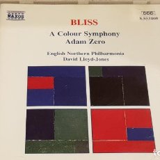 CDs de Música: BLISS / A COLOUR SYMPHONY - ADAM ZERO / DAVID LLOYD-JONES / CD - NAXOS / DE LUJO. Lote 198554458