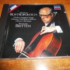 CDs de Música: MSTISLAV ROSTROPOVITCH BENJAMIN BRITTEN CD ALBUM 1987 WEST GERMANY CONTIENE 11 TEMAS. Lote 198555666