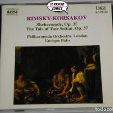 CDs de Música: RIMSKY-KORSAKOV, SHEHERAZADE, TSAR SALTAN, CD NAXOS, 1993. Lote 198557198