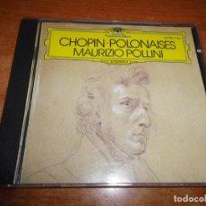 CDs de Música: MAURIZIO POLLINI CHOPIN POLONAISES CD ALBUM WEST GERMANY CONTIENE 7 TEMAS. Lote 198560595