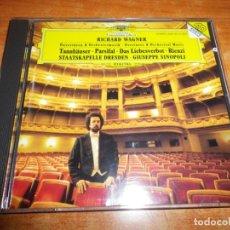 CDs de Música: RICHARD WAGNER OUVERTUREN UND ORCHESTERMUSIK TANNHAUSER PARSIFAL CD ALBUM 1996 6 TEMAS. Lote 198562643