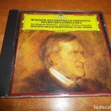 CDs de Música: WAGNER OUVERTUREN & VORSPIELE OVERTURES & PRELUDES CD ALBUM 1981 WEST GERMANY CONTIENE 5 TEMAS. Lote 198563122