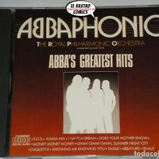 CDs de Música: ABBAPHONIC, THE ROYAL PHILHARMONIC ORCHESTRA, ABBA, CONDUCTED BY LOUIS CLARK, GREATEST HITS, CD 1986. Lote 198570452