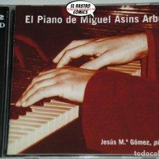 CDs de Música: MIGUEL ASINS ARBÓ, EL PIANO DE, DOBLE CD 2003, JESÚS Mª GÓMEZ, UNIVERSITAT POLITÉCNICA DE VALÈNCIA. Lote 198571025