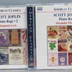 CDs de Música: 2 CD. SCOTT JOPLIN. PIANO RAGS. Lote 198644775