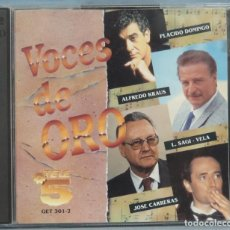 CDs de Música: CD. VOCES DE ORO. TELE5. Lote 198646775