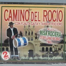 CDs de Música: CD. CAMINO DEL ROCIO CON FLAUTA GAITA Y TAMBOR ROCIERO. FELIX EL DE VILLAMANRIQUE. Lote 198647791
