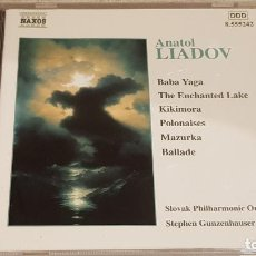 CDs de Música: ANATOL LIADOV / ORCHESTRAL WORKS / STEPHEN GUNZENHAUSER / CD - NAXOS / DE LUJO. Lote 198648302