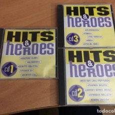 CDs de Música: HITS & HEROES LOTE 3 CD (CDIB8). Lote 198748780