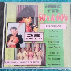 CDs de Música: THE WORLD OF THE 50 & 60'S. CD. RESCUE ME.. Lote 198917198