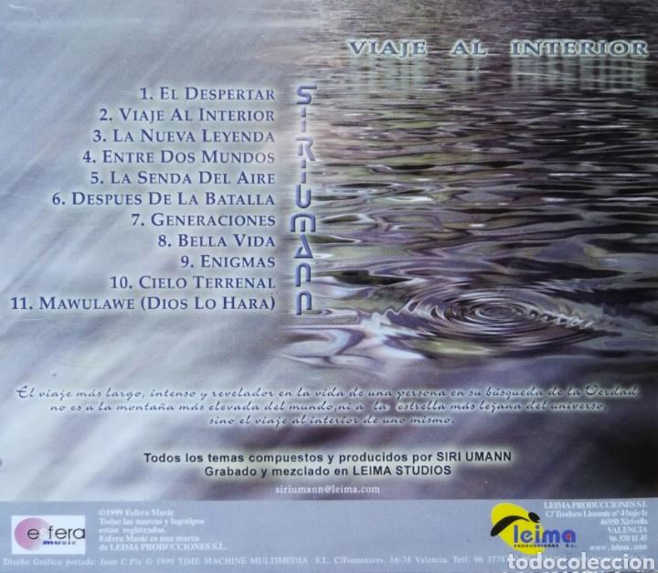 CDs de Música: CD ALBUM , SIRI UMANN , VIAJE AL INTERIOR , NEW AGE VALENCIA - Foto 2 - 198969243