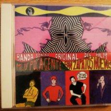 CDs de Música: MUY POCA GENTE. B.S.O. CON ZAPATOS NUEVOS. GRABACIONES EN EL MAR, SPAIN, 2000.. Lote 199055440