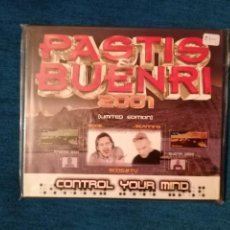 CDs de Música: PASTIS & BUENRI 2001 CONTROL YOUR MIND 2CD LIMITED EDITION. Lote 199121671