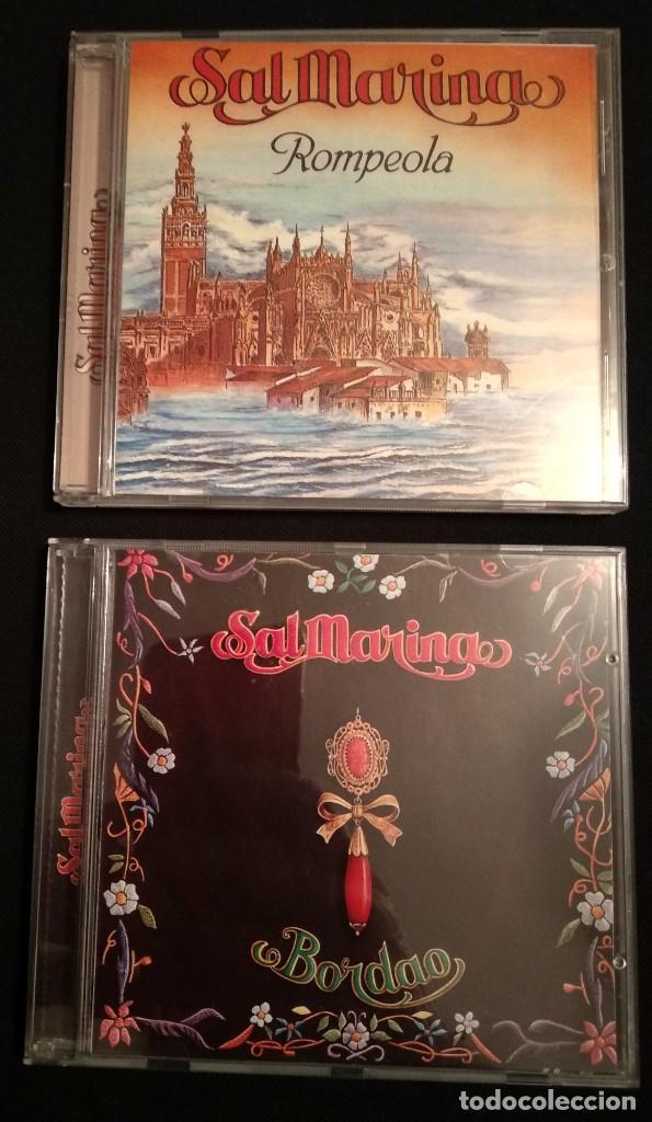 LOTE 2 CD 1994 DEL GRUPO SALMARINA - TÍTULOS: ROMPEOLA Y BORDAO SAL MARINA (Música - CD's Flamenco, Canción española y Cuplé)