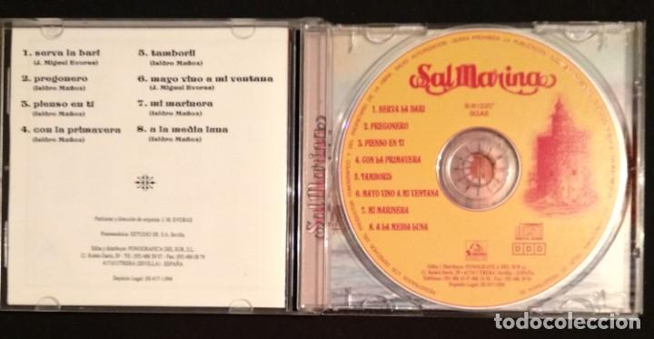 CDs de Música: Lote 2 CD 1994 del grupo SALMARINA - títulos: ROMPEOLA y BORDAO sal marina - Foto 5 - 199168261