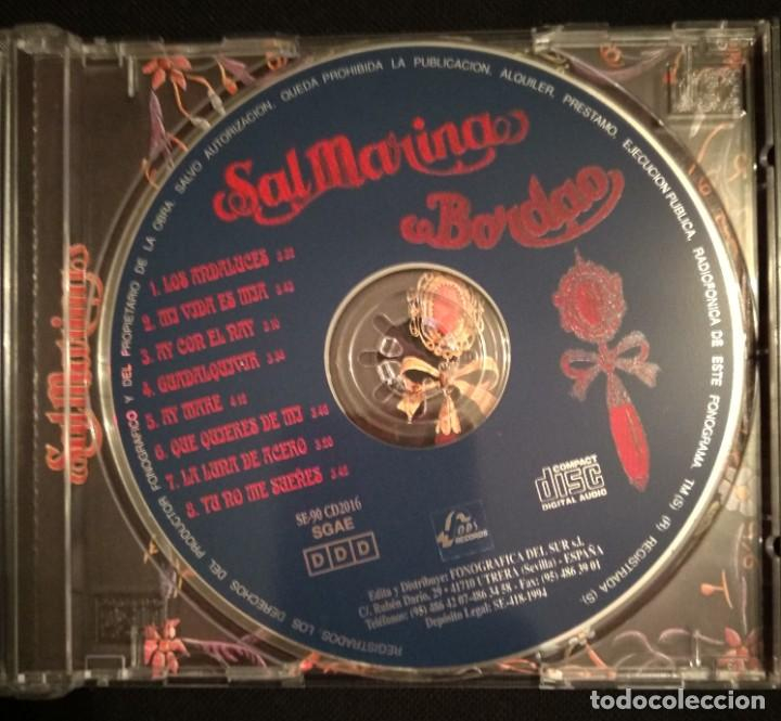 CDs de Música: Lote 2 CD 1994 del grupo SALMARINA - títulos: ROMPEOLA y BORDAO sal marina - Foto 7 - 199168261