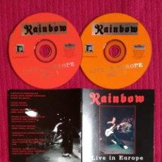 CDs de Música: RAINBOW: LIVE IN EUROPE. 2CD'S LIVE 1976. BMG. MUY RARO. MUY BUEN SONIDO.. Lote 199174626