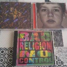 CDs de Música: LOTE 3 CD BAD RELIGION NO CONTROL GRAY RACES AGAINST. Lote 199216800