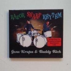 CDs de Música: RAZOR SHARP RHYTHM. GENE KRUPA & BUDDY RICH. DOBLE CD. TDKV47. Lote 199247655
