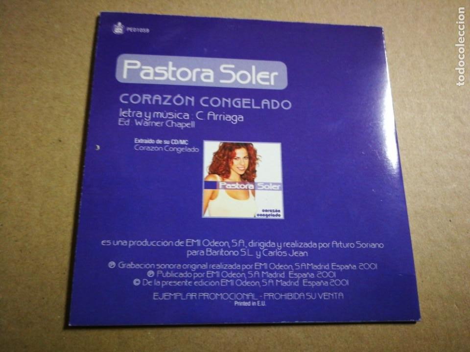 CDs de Música: PASTORA SOLER Corazon congelado CD SINGLE PROMOCIONAL CARTON 2001 CARLOS JEAN 1 TEMA - Foto 2 - 31935026