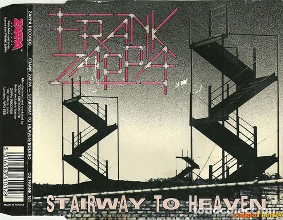 CDs de Música: FRANK ZAPPA / Stairway to heaven / Bolero, 1ª version, france ORG CD single LED ZEPPELIN !! EXC - Foto 2 - 43967621