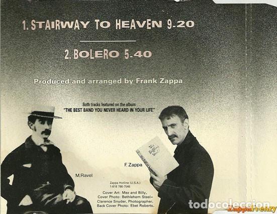 CDs de Música: FRANK ZAPPA / Stairway to heaven / Bolero, 1ª version, france ORG CD single LED ZEPPELIN !! EXC - Foto 3 - 43967621