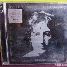 CDs de Música: WORKING CLASS HERO // THE DEFINITIVE// LENNON 2 CD // BEATLES. Lote 199313050