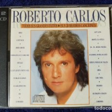 CDs de Música: DISCO DOBLE DEL MÍTICO ROBERTO CARLOS. SUS 20 MEJORES CANCIONES. 2 CD. Lote 199336208