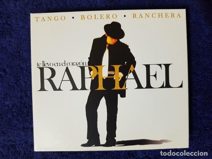 RAPHAEL (TE LLEVO EN EL CORAZÓN) TANGO BOLERO RANCHERA. DISCAZO EN 3 CD. UNA JOYA (Música - CD's Melódica )