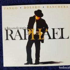 CDs de Música: RAPHAEL (TE LLEVO EN EL CORAZÓN) TANGO BOLERO RANCHERA. DISCAZO EN 3 CD. UNA JOYA. Lote 199339107